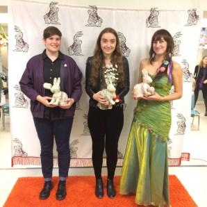 Renata Davis, Shira Moolton, and Jessica Lovina Guimond on the orange carpet - sisterhood rules \o/