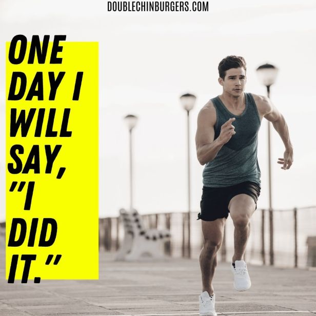 motivation to lose weight, the best motivation for losing weight, man sprinting.