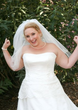 Behold, my unphotoshopped arms on my wedding day!