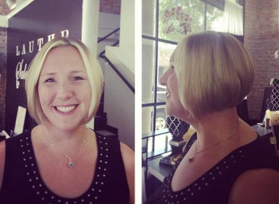 April's new haircut thanks to Ashley Blanchard at Lauthr Salon in Petaluma - Click this picture for her stylist profile!