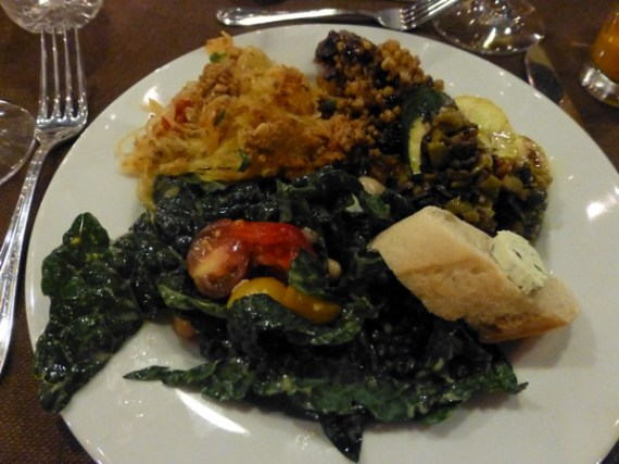 Locally sourced dinner at Halter Ranch
