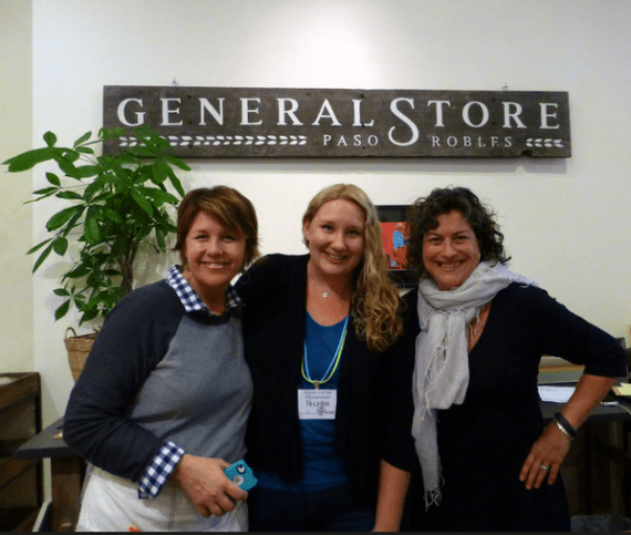 Alyssa with two awesome women business owners of the Paso Robles General Store.