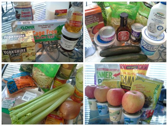 April's stash of food for the week  ~$45