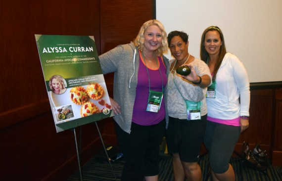 With the winners of the California Avocado Commission Fitbloggin Recipe Contest - Kia of Bodhi Bear and Kelly of No Thanks to Cake
