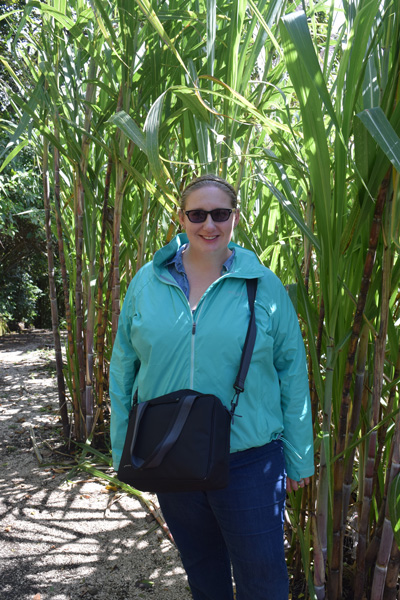 Standing in front of Sugar Cane