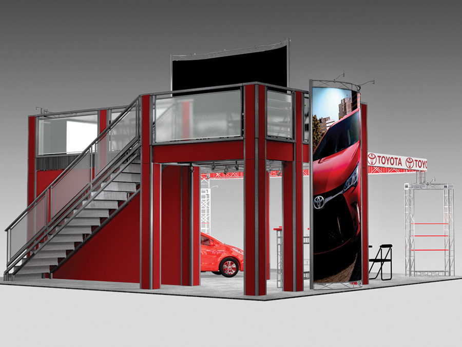 Multi Level Booth GR3030 Double Deck Rental