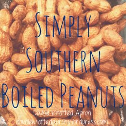 Simply Southern Boiled Peanuts - Double Knotted Apron