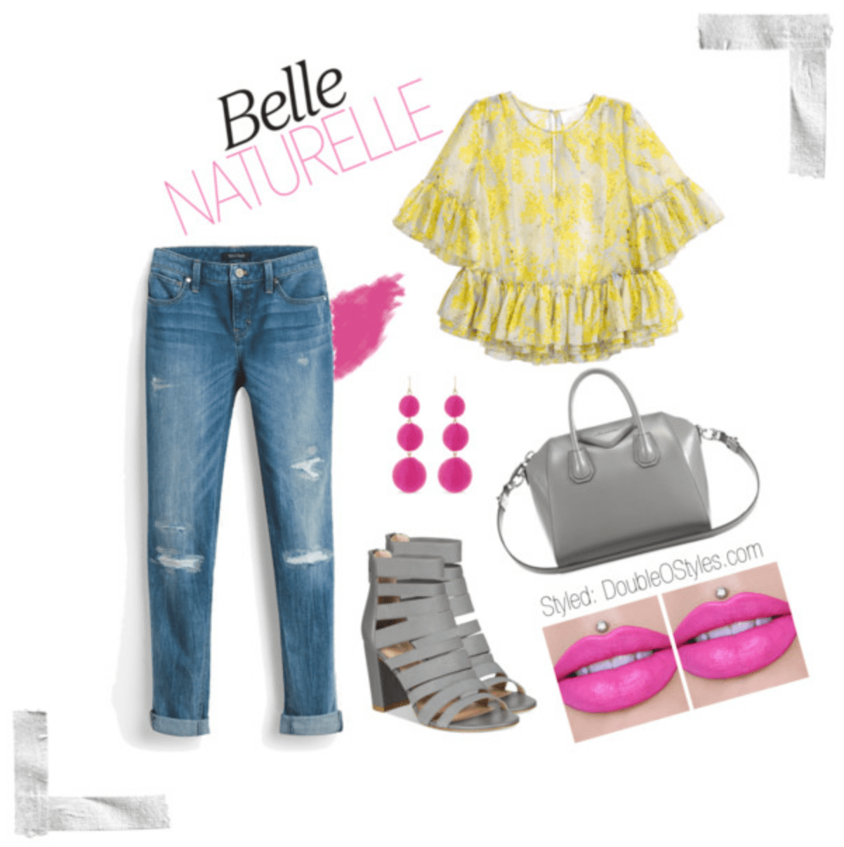 In the #Spring flowing through with my poppin' #Pink lips! #womenstyle #womensFashion #polyvorefashion #jeans #springstyle Belle Naturelle doubleostyes Created by doubleostyes Yesterday. 4 views. In the #Spring flowing through with my poppin' #Pink lips! #womenstyle #womensFashion #polyvorefashion #jeans #springstyle