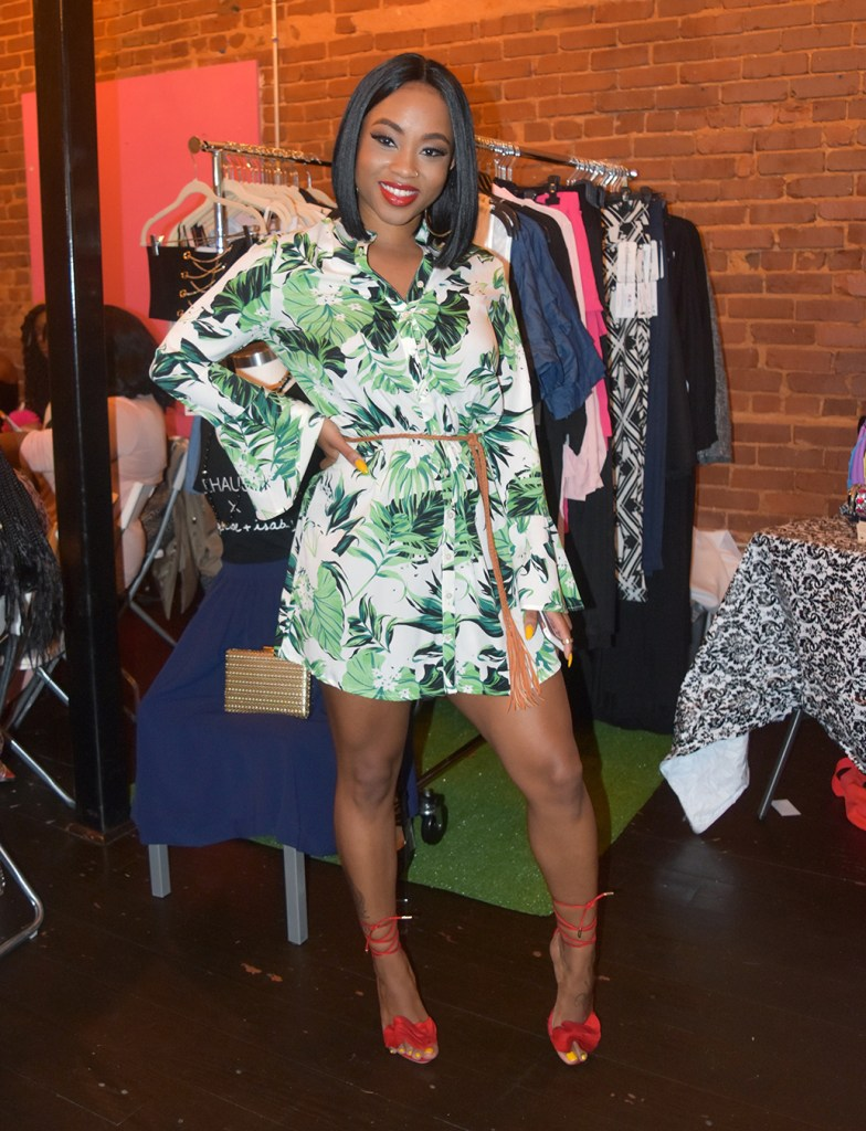 Networking & Hosting with the 'Leafy Print Shirt Dress' from Privilege