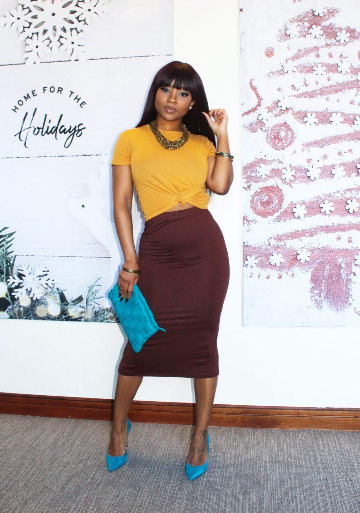Simple Pencil Skirt Glamorous Look #CorporateBAE