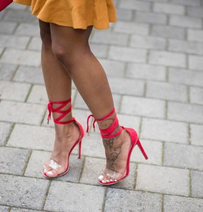 Hot Stuff Tie-Up Heels