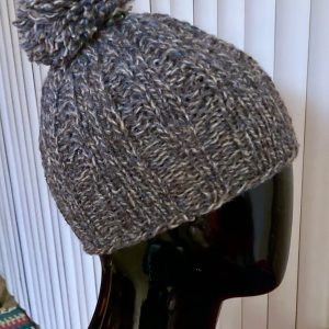 Pom Pom Hat Shetland Wool - PH0030 01