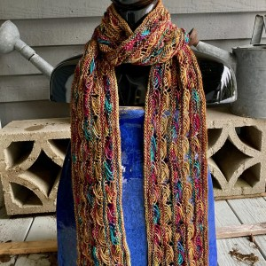 Knitted Cross Stitch Scarf CSS0052 01
