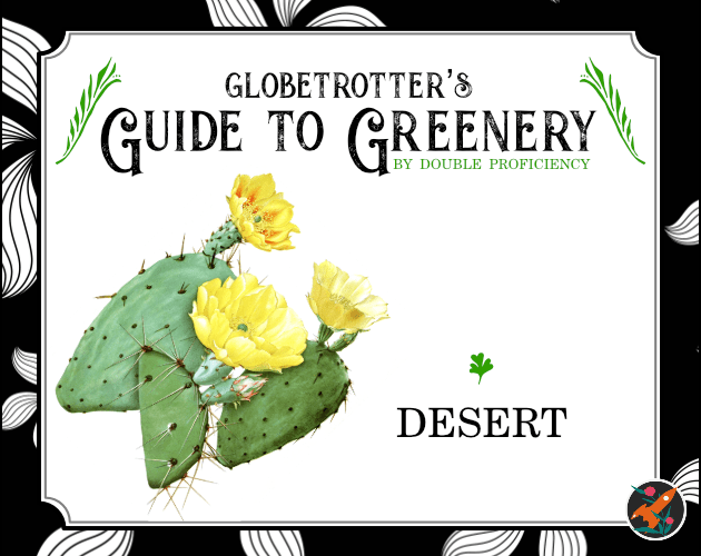 The Cover of Globetrotter's Guide to Greenery: Desert by Double Proficiency
