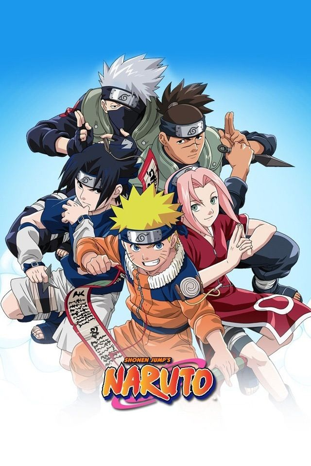 Naruto Cover Art Replacement featuring Team 7 and Iruka