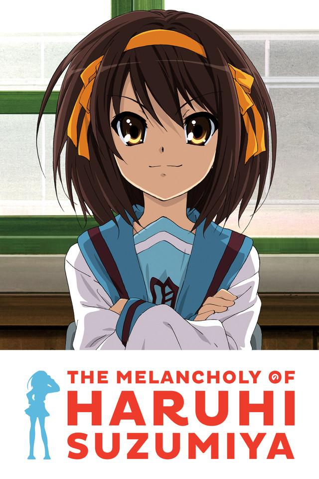 The Melancholy of Haruhi Suzumiya Cover Art featuring Haruhi Suzumiya