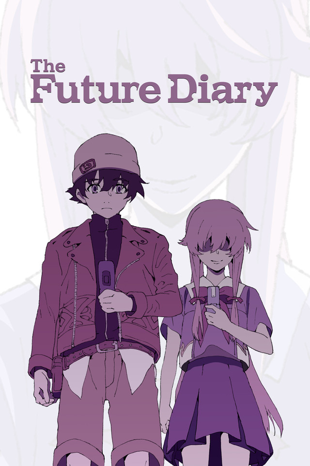 The Future Diary Cover Art featuring Yukiteru Amano and Yuno Gasai