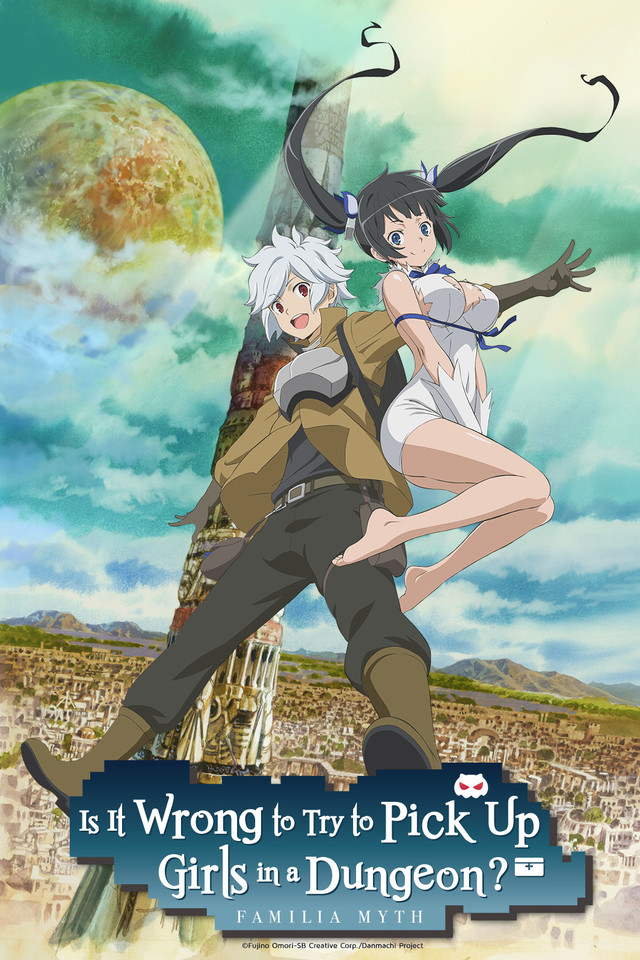 Is It Wrong to Try to Pick Up Girls in a Dungeon? Cover Art featuring Bell and Hestia