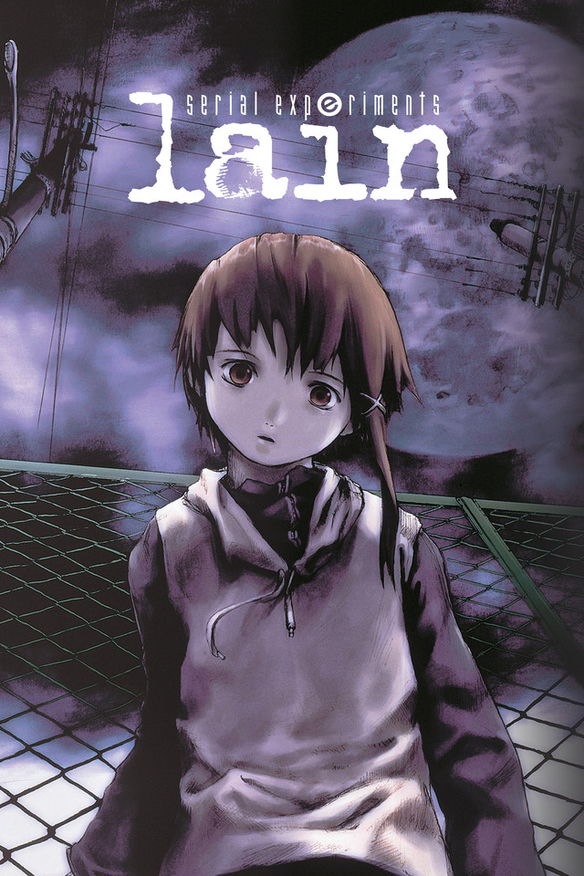 Serial Experiments Lain Cover Art featuring Lain