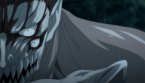 The composite Parasite Gotou from the anime Parasyte -the maxim-