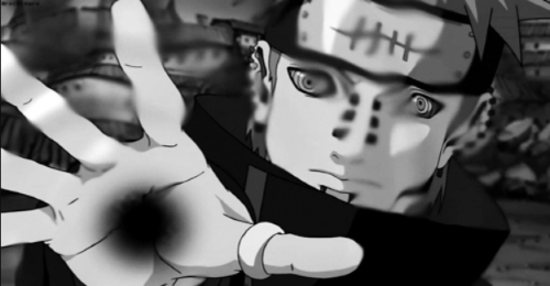 "Pain using ""Almighty Push"" from the anime Naruto: Shippuden"