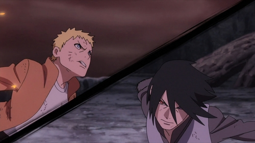 Naruto Uzumaki and Sasuke Uchiha from the anime Boruto: Naruto Next Generations