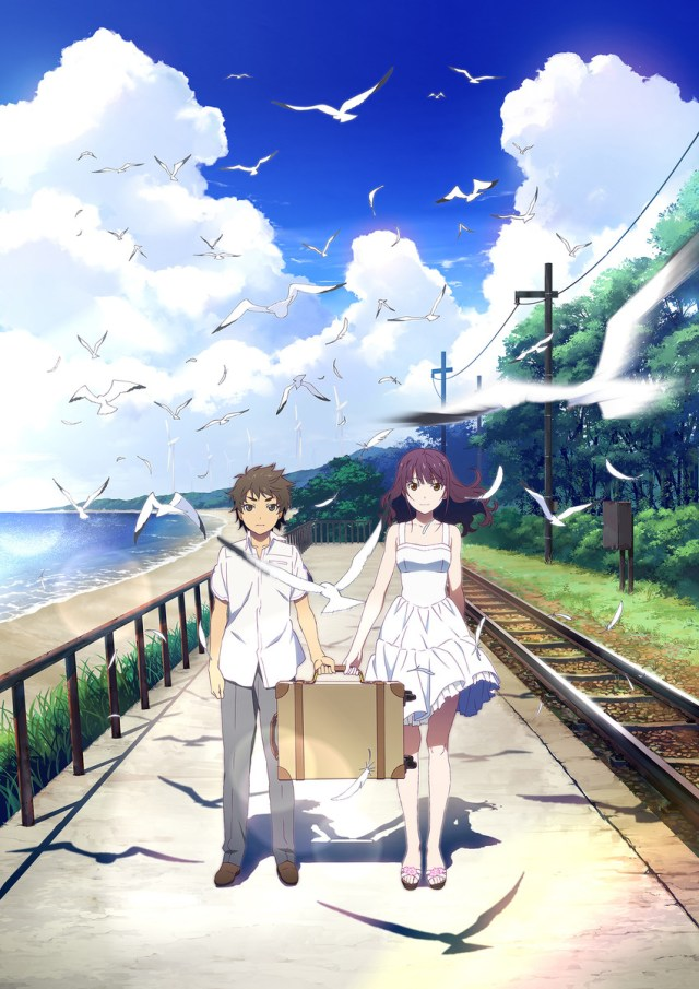 Fireworks anime movie cover art featuring Nazuna and Norimichi
