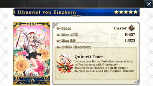 Illyasviel von Einzbern Caster card from the game Fate/Grand Order