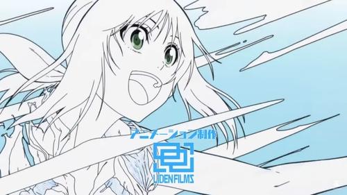 Animated line art of Ayano Hanesaki from the Hanebado! anime OP (opening)