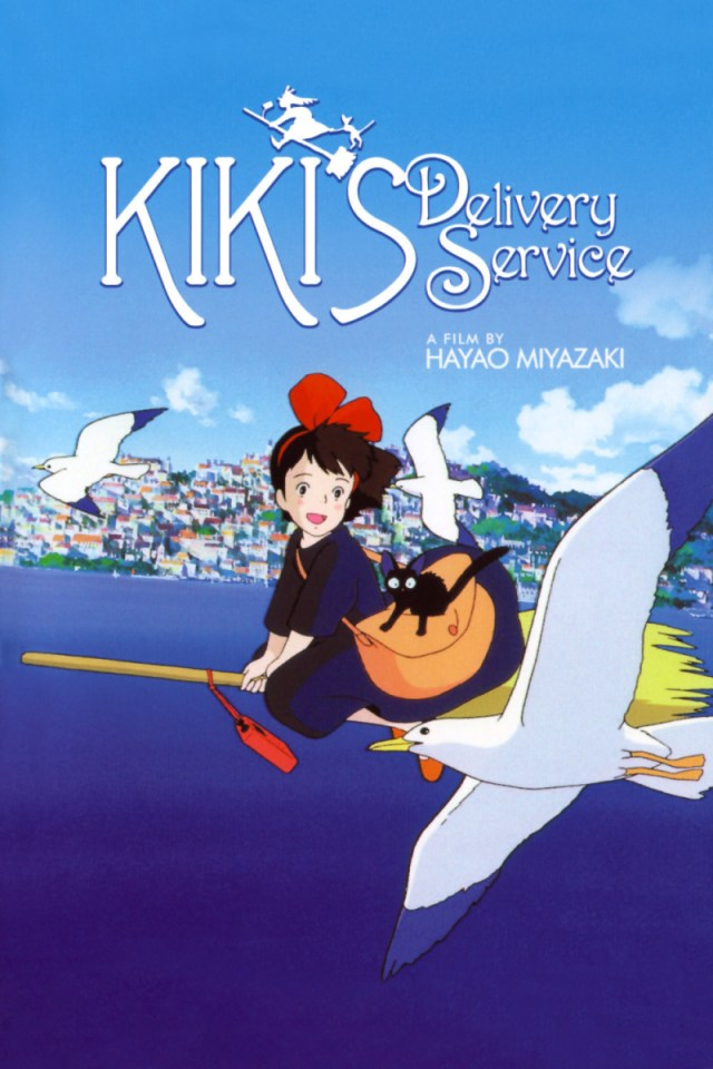Kiki's Delivery Service anime movie cover art
