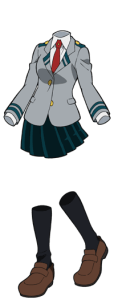 Toru Hagakure in her U.A. school uniform from the anime My Hero Academia