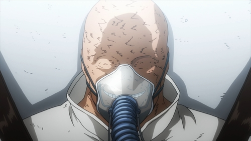 All for One in prison from episode 60 of the anime My Hero Academia