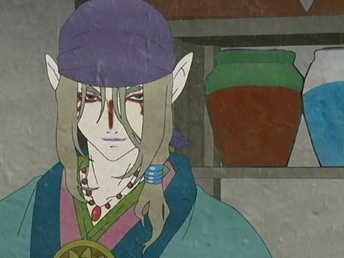 The Medicine Seller from the Bakeneko story from the anime Ayakashi: Japanese Classic Horror