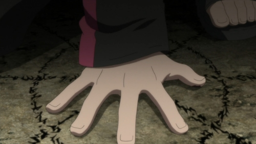 Boruto using the Summoning Jutsu from the anime Boruto: Naruto Next Generations