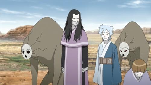Kokuyou, Mitsuki, and Sekiei from the anime Boruto: Naruto Next Generations