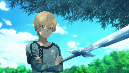 Eugeo and the Blue Rose Sword from the anime Sword Art Online: Alicization
