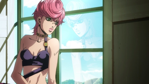 Trish Una from the anime JoJo's Bizarre Adventure Part 5: Golden Wind