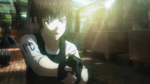 Inspector Akane Tsunemori from the Psycho-Pass Movie anime