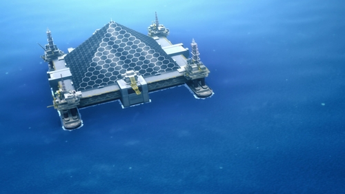 The Ocean Turtle research facility from the anime Sword Art Online: Alicization
