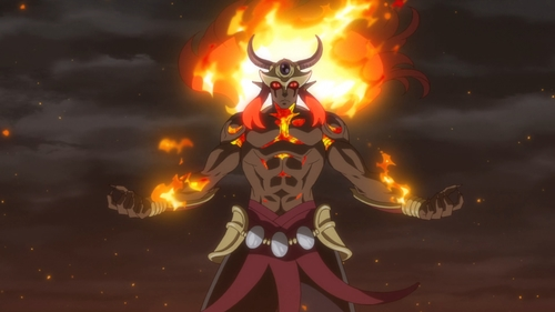 The Fire Spirit Ifrit from the anime That Time I Got Reincarnated as a Slime