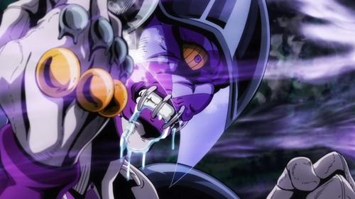 Pannacotta Fugo's stand, Purple Haze, from the anime JoJo's Bizarre Adventure Part 5: Golden Wind