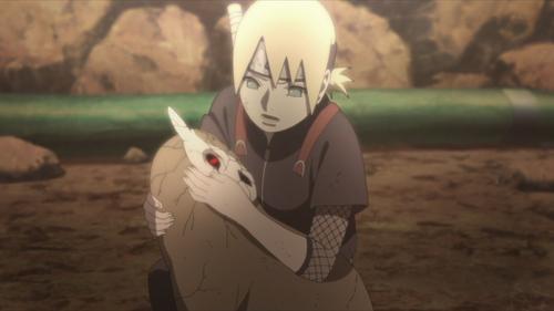 Inojin Yamanaka and Akkun from the anime series Boruto: Naruto Next Generations