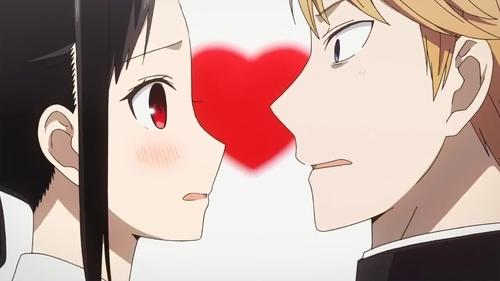 Miyuki Shirogane and Kaguya Shinomiya from the anime series Kaguya-sama: Love is War