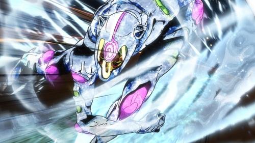 Ghiaccio and White Album from the anime series JoJo's Bizarre Adventure Part 5: Golden Wind