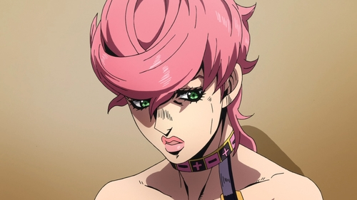 Trish Una from the anime series JoJo's Bizarre Adventure Part 5: Golden Wind