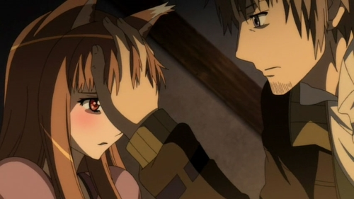 Holo and Kraft Lawrence from the anime series Spice and Wolf