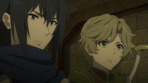 Sword Hero Ren Amaki and Bow Hero Itsuki Kawasumi from the anime series The Rising of the Shield Hero