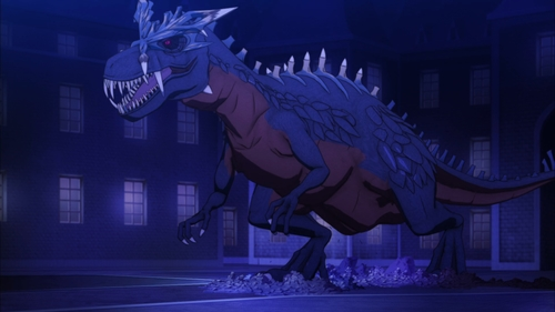 A Tyrannosaurus Rex from the anime series The Rising of the Shield Hero