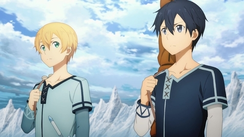 Kirito and Eugeo from the anime series Sword Art Online: Alicization