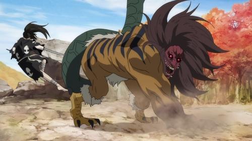 Hyakkimaru vs. the Nue from the anime series Dororo
